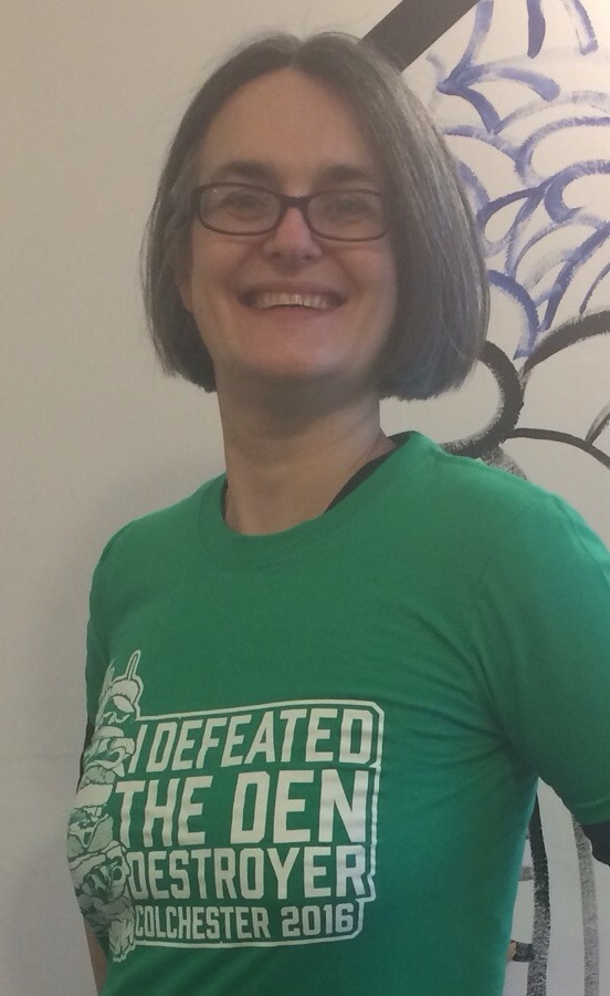 The awesome green 'I defeated the Den Destroyer Colchester 2016' tshirt midorigreen.co.uk