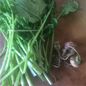 Preparing turnip greens | midorigreen.co.uk